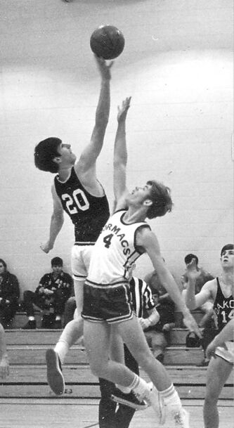 Rick Watts (20) did it all in his days with the Dakota Lancers: basketball, volleyball, badminton and golf, to name but a few sports.