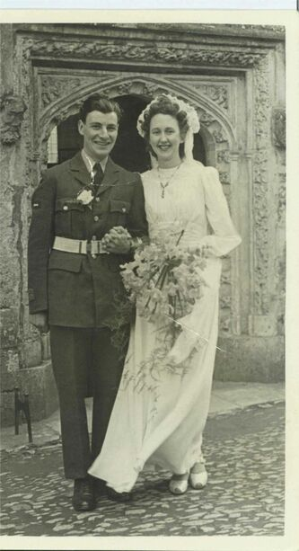 <p>Supplied</p><p>Edna married the love of her life, Jack Perry in Devon, England in 1945.</p>