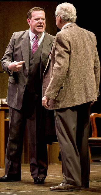 Ashley Wright as Lawrence Garfinkle (left) and Harry Nelken as Andrew Jorgenson.