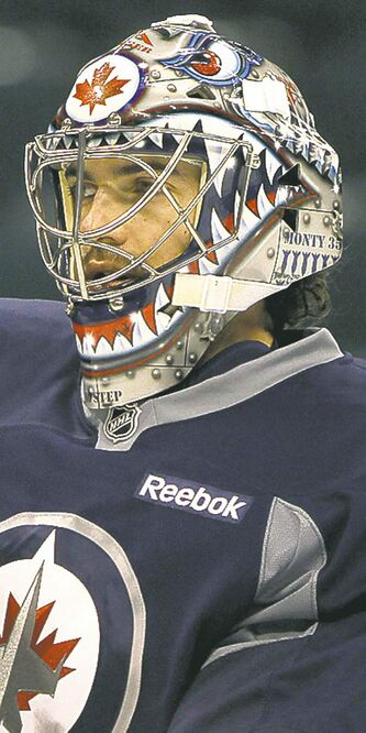 Winnipeg Jets goaltender Al Montoya at practice Monday.