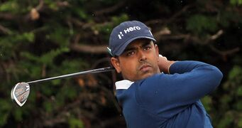 ADVANCE FOR WEEKEND EDITIONS, FEB. 27-MARCH 1- FILE - In this July 16, 2014, file photo, Anirban Lahiri of India plays a shot off the 18th tee during a practice round ahead of the British Open Golf championship at the Royal Liverpool golf club in Hoylake, England. (AP Photo/Scott Heppell, File)