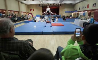 Gymnastics venue at The 2014 Morden Stanley Winkler Power Smart Manitoba Games.
