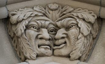 A stone carving from the Peace Tower is pictured in Ottawa on May 26, 2014. THE CANADIAN PRESS/Sean Kilpatrick
