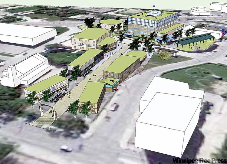 An artist's rendering of the proposed Point Douglas redevelopment. Work could begin as early as February.