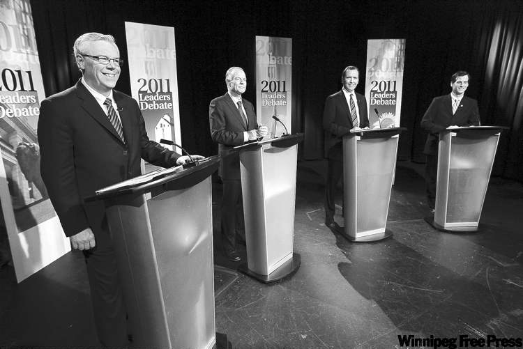 Manitoba party leaders prepare for televised political debate on Sept. 23.