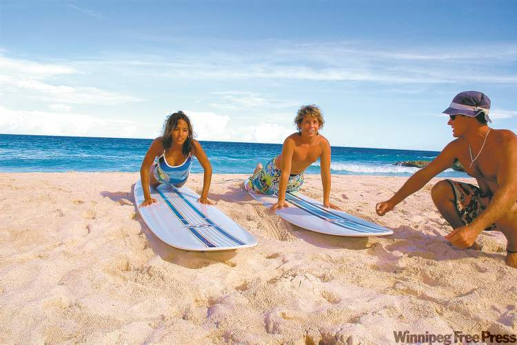 Opportunities for water sports abound on Barbados, including the chance to learn to surf.