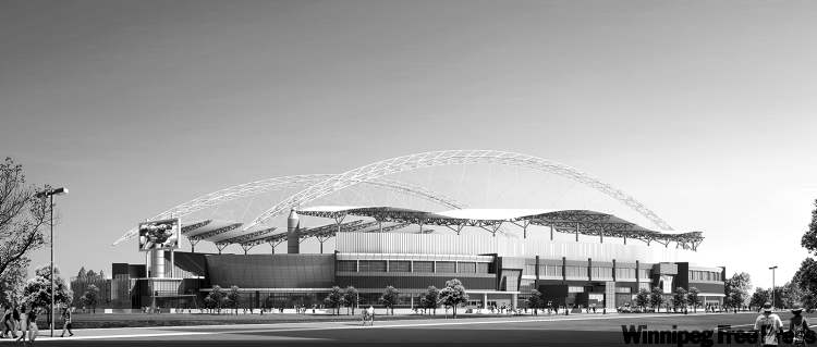 Although most stadiums are designed by large U.S. firms, local firm Raymond S.C. Wan Architect took on Winnipeg's new stadium.