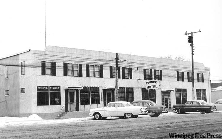 The Tourist Hotel, shown in 1955, continued to operate a beverage room in dry Steinbach under a grandfather clause. It later moved so it could expand.