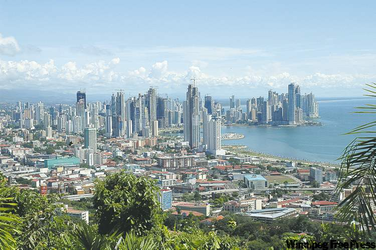 The top of Ancon Hill, a protected nature reserve, has a panoramic view of Panama City.