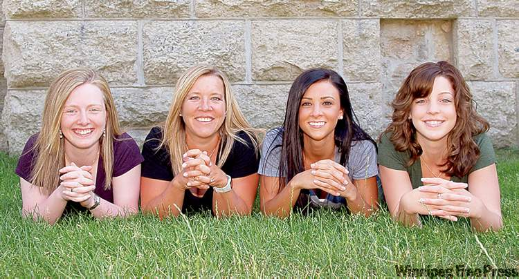 Ashley Howard, Cathy Overton-Clapham, Jenna Loder and Breanne Meakin (from left) are winning tournaments and money and are a good bet to win Scotties.
