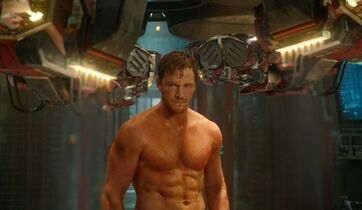 This image released by Disney - Marvel shows Chris Pratt in a scene from