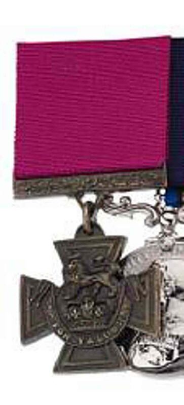 The Victoria Cross medal of Lieutenant Robert Shankland.