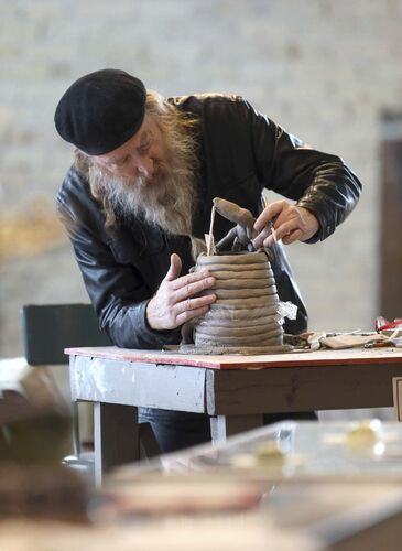 Ceramic artist and raconteur crafts pop-up gallery at The Forks