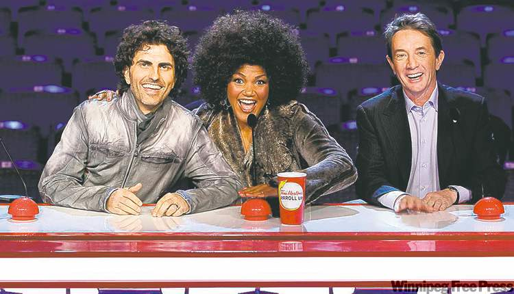 From left,  Moccio,  Brueggergosman and Short  are the judges on Canada's  Got Talent.