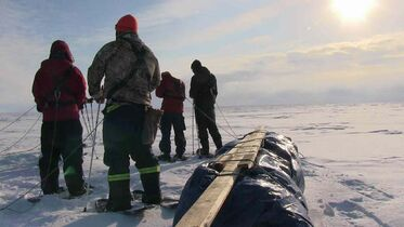 The trekkers left Camp Arnes this morning and will do about 10 kilometres a day.