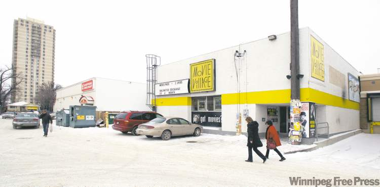 The area around Movie Village and Shoppers Drug Mart in Osborne Village has a high amount of foot traffic. See Robert Galston story 120114 - Saturday, January 14, 2012 -  (MIKE DEAL / WINNIPEG FREE PRESS)