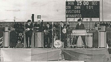 The Guess Who in May 1966 playing at Winnipeg Stadium with the first Garnet amps.RE: Einarson column for Dec. 21, 2014Photo by Hans Sipma