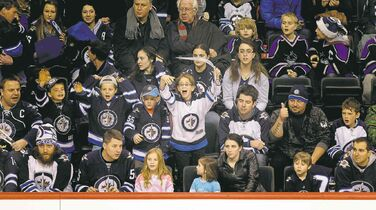 Young and old were out in force at the Jets annual skills competition at the MTS Centre Wednesday night.