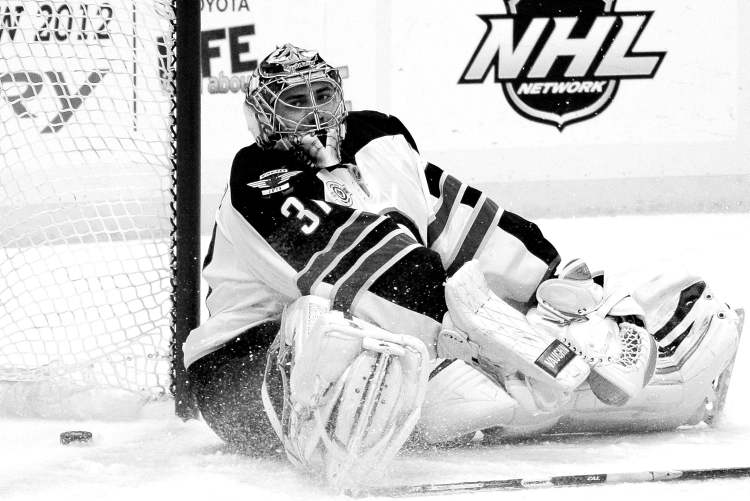 Gene J. Puskar / the associated pressAs was often the case Saturday, Jets goalie Ondrej Pavelec was left all alone to face Penguins shooters. Evgeny Malkin slid the puck past him on this play, a second-period breakaway.