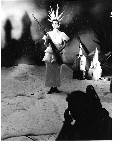 Randall King / Winnipeg Free Press</p><p>Guy Maddin (in foreground) directs Kathy Marykuca in Archangel. </p></p>