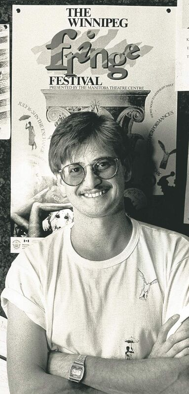 Larry Desrochers, the first Winnipeg Fringe Festival executive producer, in 1988.