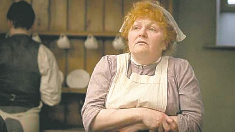 Lesley Nicol plays Downton Abbey cook Mrs. Patmore.