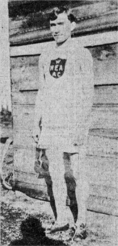 BRANDON SUN ARCHIVES</p><p>Joe Keeper in his North End Amateur Athletic Club kit, 1914.</p>