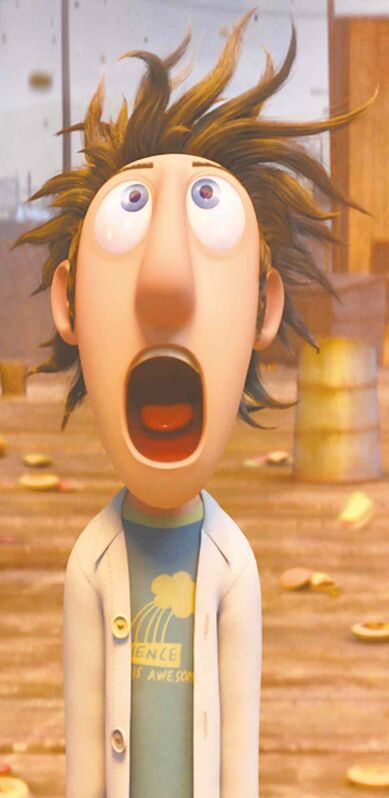 Sam Sparks in the animated film Cloudy With A Chance of Meatballs 2.