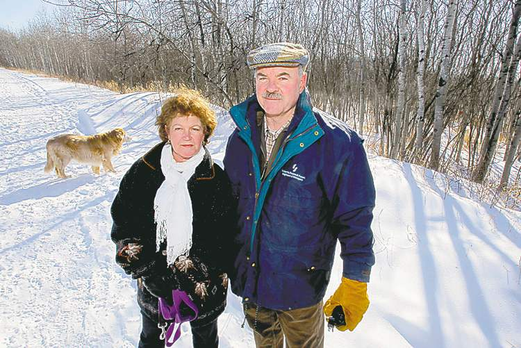 Victoria Macdonald and Al Roberts are concerned about a loss of green space when the Ridgewood South development (below) is built.