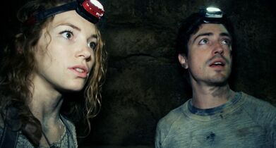 This image released by Universal Pictures shows Perdita Weeks, left, and Ben Feldman in a scene from the film,