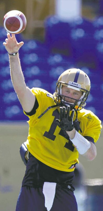 WAYNE GLOWACKI / WINNIPEG FREE PRESSJoey Elliott gave Bomber fans renewed life with a stellar passing performance against the Hamilton Tiger-Cats. Now the whole city is abuzz over the former No. 3 quarterback.