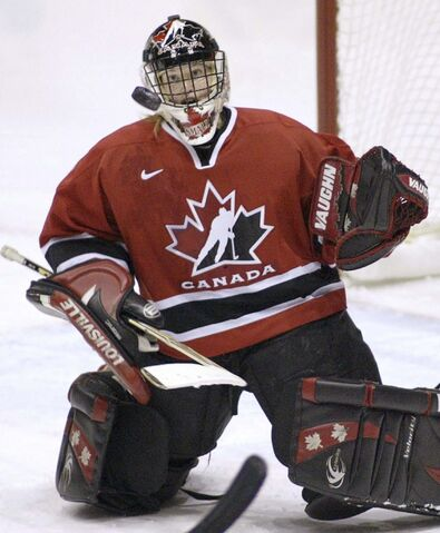 Team Canada goaltender Sami Jo Small in 2004.