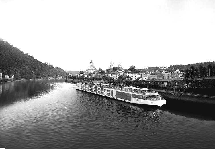 Viking River Cruises longship (rendering). The ship will be launched this month.