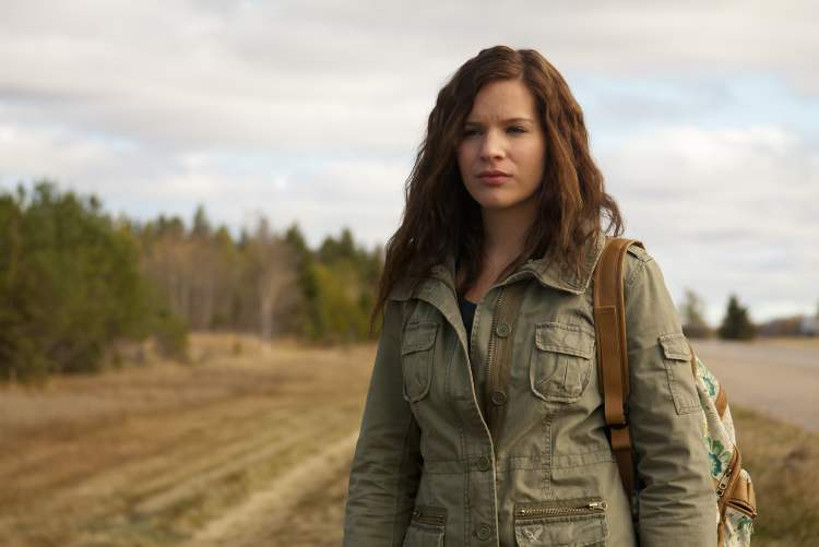 On the road again: Brooke Palsson as Michelle.