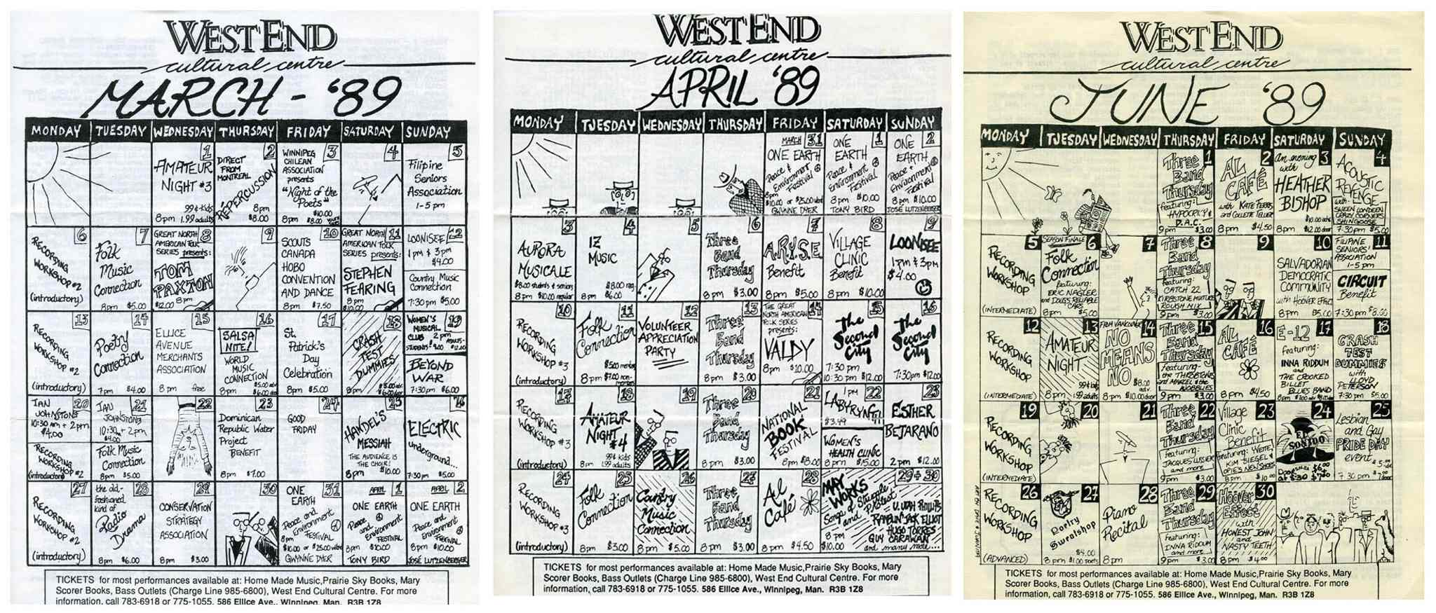 An event takes place at the WECC almost every evening in the spring of 1989.