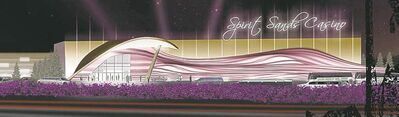 A preliminary concept sketch of the proposed Spirit Sands Casino in southwestern Manitoba.