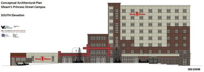 South-facing elevation of Siloam Mission's proposed expansion.