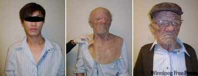 A young Asian man disguised himself as an elderly man on an Air Canada flight from Hong Kong to Vancouver.