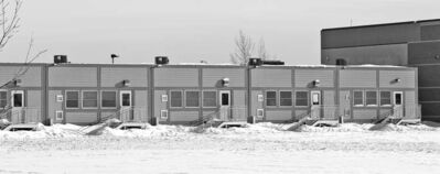 Portable classrooms ring Leila North School.