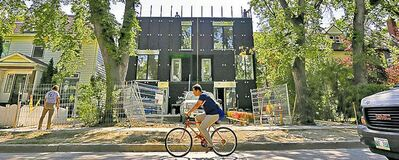 An eight-unit condo under construction at 548 Stradbrook Ave.