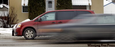 A mobile camera in a van targets speeders on Corydon Avenue in Winnipeg.