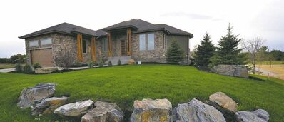 The winning design was Maric's stunning 2,415-sq.-ft. bungalow at 64 Deer Pointe Drive, a former HSC Lottery Home.