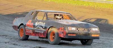 This modified Chevrolet Monte Carlo is one of four stock cars available for rent from Rental Racecar.