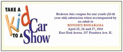 Take a Kid to a Car Show coupon.