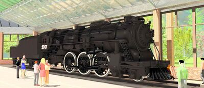 Artist's rendering of Locomotive 2747 inside the new Transcona public library.