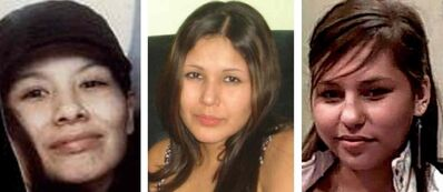 From left: Tanya Jane Nepinak, Carolyn Marie Sinclair and Lorna Blacksmith. Shawn Lamb, 52, has been charged with three counts of second-degree murder in the deaths of these women.