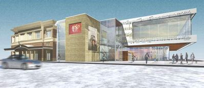 An artist's rendering of the 'new'  WSO building.