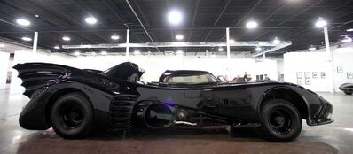 A 1989 Batmobile, used by Michael Keaton in Tim Burton's film, Batman
