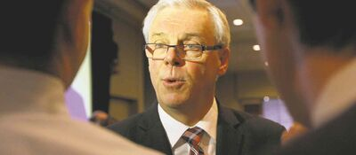 Ruth Bonneville / Winnipeg Free PressPremier Greg Selinger delivered a medley of NDP greatest hits to a chamber of commerce crowd in his annual address Thursday. He briefly mentioned the controversial PST hike, calling it a �difficult decision.�
