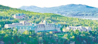 The historic, baronial Fairmont Le Manoir Richelieu overlooks the St. Lawrence River in picturesque Charlevoix..